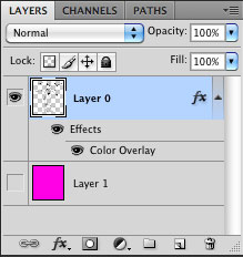 Layer palette eye