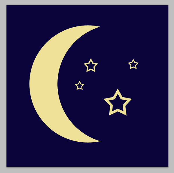 Moon and Star Vector Shapes