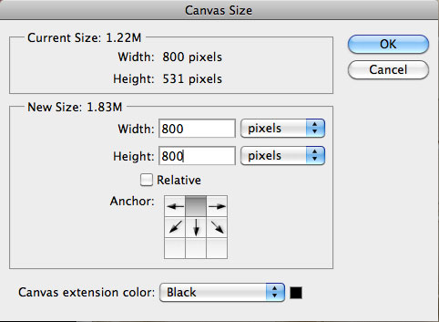 Change canvas size