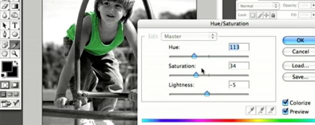 adding colour to a black and white photo