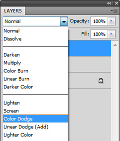 change the layer mode to colour dodge