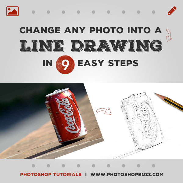 Change any Photo into a Line Drawing