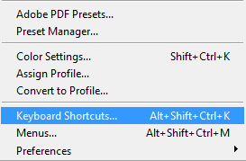 open the keyboard shortcut panel
