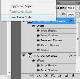 clear layer styles on top layer