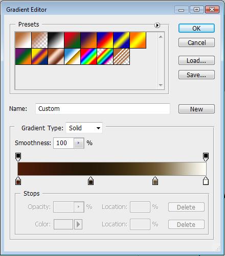 Stroke gradient settings