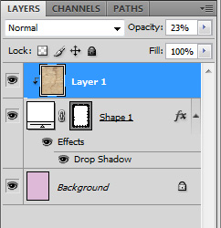 reduce opacity of the top layer using the slider