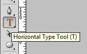 Horizontal Type Tool