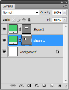 2 separate shape layers