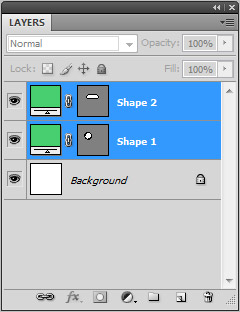 Select both shape layers