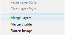 Right click & choose merge layers