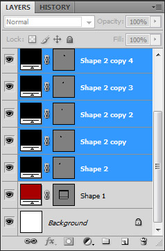 select all the rounded rectangles