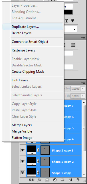 right click and choose duplicate layers