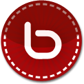 bebo red stitched icon