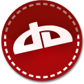 Deviant Art red stitch icon