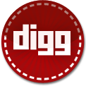 Digg red stitch icon