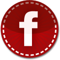 Facebook red stitch icon