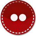 Flickr red stitch icon