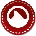 Groove Shark red stitch icon