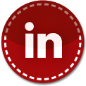 Linkedin red stitch icon