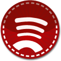 Spotify red stitch icon