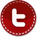 Twitter red stitch icon
