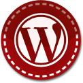 Wordpress red stitch icon