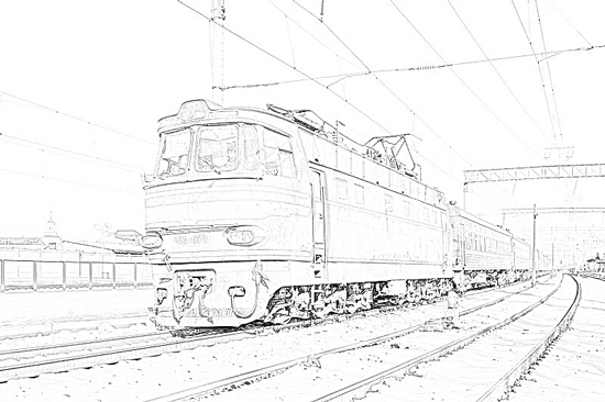 Line Drawing Effect Photo : How to create a coloured pencil effect from black and
