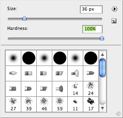 Select brush size