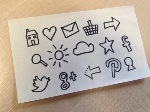 original hand drawn icons