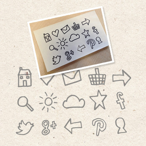 turn hand drawn icons to vectors
