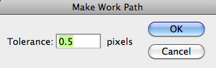 make work path 0.5