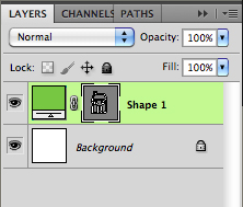shape layer palette view