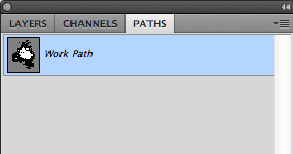 Path will appear in the palette