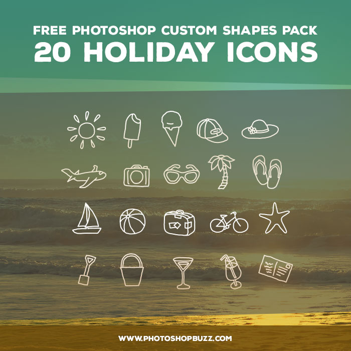 20 Holiday Icons - Free Custom Shapes