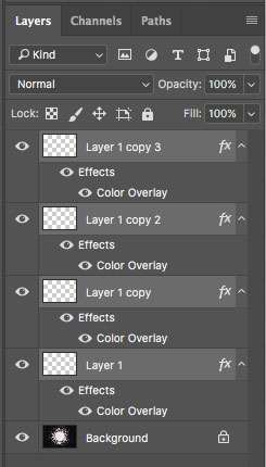 select layers