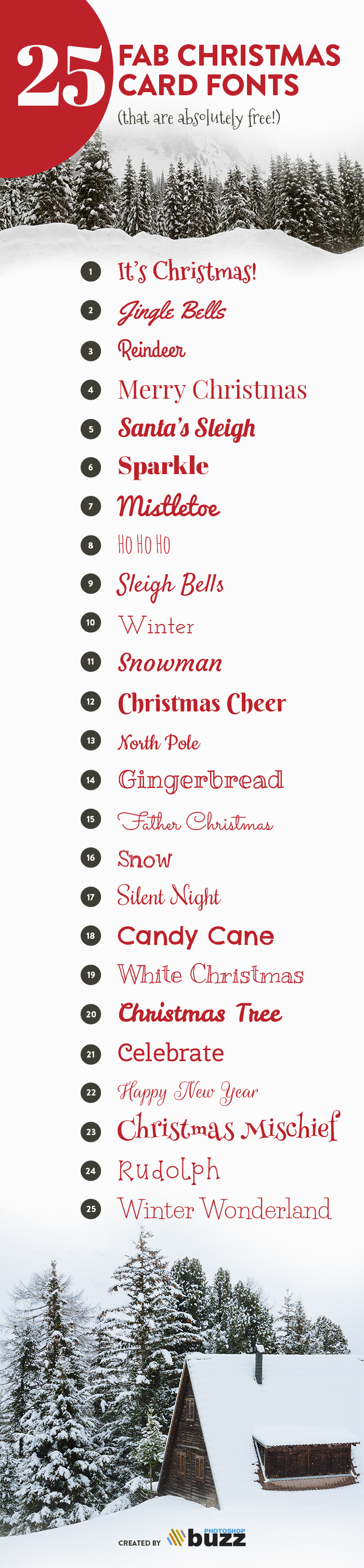25 Christmas card fonts