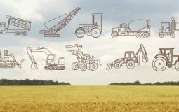 Free Farm Construction Vehicles Images Shapes Set Download