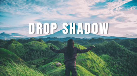 How to Add Drop Shadow to Text in Photoshop